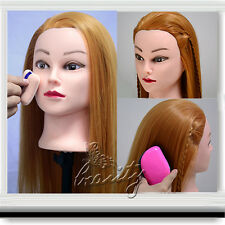"""100% NEW Cosmetology Training Mannequin 22"""" 30% Real Human Hair Practice Head"""