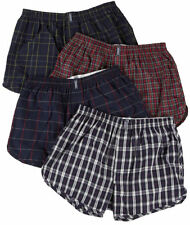 JOCKEY PLAID CLASSIC TAPERED 4 PACK BOXER UNDERWEAR BLACK RED LARGE NEW! $36
