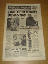 MELODY MAKER 1957 OCTOBER 12 COUNT BASIE LIONEL HAMPTON RUSS HAMILTON STEELE +