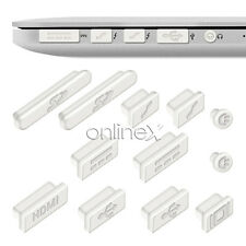 "12x Protector Anti-Polvo APPLE MACBOOK PRO 13/15"" (SIN RETINA) Blanco a1103"