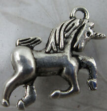 20pcs lovely auspicious Tibet silver unicorn charms pendant 20x16mm