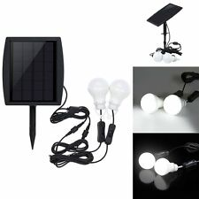 Outdoor/Indoor Solar Powered LED Lighting Bulb Double Lamp System 1x Solar Panel