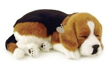 PERFECT PETZZZ BEAGLE PLUSH PUPPY BREATHING HUGGABLE ANIMAL DOG REAL PET SOFT