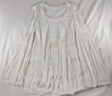 """ALAIA WHITE """"LONG BELL SLEEVE/BABY DOLL"""" FLARED KNIT DRESS - IT 40 / US 4"""