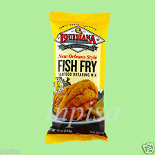 LOUISIANA FISH FRY MIX 6 Bags x 10oz SEAFOOD BREADING NEW ORLEAN STYLE LEMON