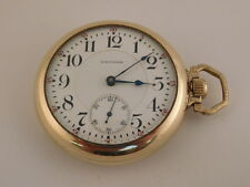 WALTHAM 23 JEWELS VANGUARD POCKET WATCH RAILROAD VINTAGE ANTIQUE CIRCA. 1902