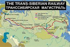 SOUVENIR FRIDGE MAGNET of THE TRANS-SIBERIAN RAILWAY TRAIN