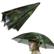 Foldable Camo Umbrella Hat Cap Sun Shade Camping Fishing Brolly Outdoor