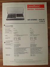 HiFi-Stereo 8100SC 8.163A Nordmende Service Manual Serviceanleitung