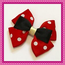 Handmade Large Minnie Mouse Inspired Hair Bow Clip Cosplay Bounding