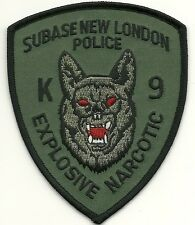 K-9  DHF  SUBASE EXPLOSIVE NARCOTIC  Police Patch Polizei Abzeichen Hundeführer
