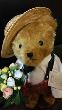 """Hermann Urkunde Bear 12"""" Mohair Excelsior with growler voice Limited 735/2000"""