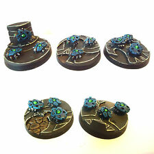 WARHAMMER 40K ARMY  NECRON SCARAB BASES X5 WELL  PAINTED AND BASED