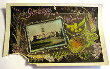 Color Postcard of Greeting from Melbourne, Australia Early 1900's