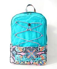 NWT Kipling Monaghan Large Bungee Laptop Backpack Cool Turquoise