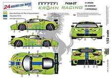 "[FFSMC Productions] Decals 1/32 Ferrari F-458 GT ""Krohn Racing"" (LM 2012)"