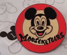 Mouseketeers Club Red Logo Classic Mickey Mouse Head Retro Style Disney Pin