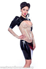R1726  **DESIGNED+MADE IN UK* LATEX Corset Skirt  Westward Bound 6 UK SHOWN