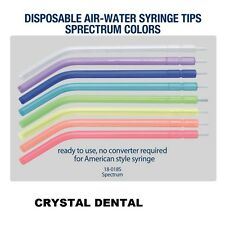Dental Disposable Air-Water Syringe Tips Spectrum Colors 2500pcs - FREE SHIPPING