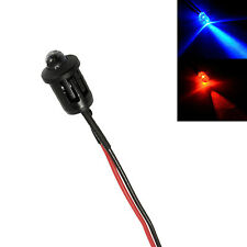 Alterna Red & Blue coche falsa falsa Alarma Led 12v