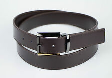 New in Box.  VERSACE COLLECTION Brown Leather Belt Size 48 Cut To Size $295