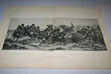#00-0102 9/10/1870 ANTIQUE PRINT (GERMANY) - BRINGING UP THE GUNS