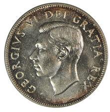 1952 Canada 50c Half Dollar - ICCS MS-65
