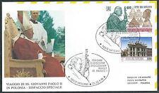 1995 VATICANO VIAGGI DEL PAPA DISPACCIO AEREO POLONIA TIMBRO ARRIVO - SV8