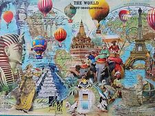 2000 Piece XL Jigsaw Puzzle The World Traveler NEW Mega Brands Puzzle
