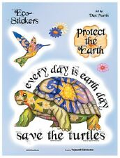 "(#35) Dan Morris CELESTIAL SAVE THE TURTLES 6"" x 8"" stickers (229) Earth Day"