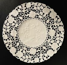 """25 - 8"""" Ivory ROSE FLORAL Lace Paper Doilies 