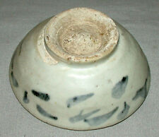 Original Antique 16c Chinese Ming Dynasty Blue & White Porcelain Bowl