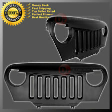 97-06 Jeep TJ Wrangler Front Hood Matte Black Overlay Grille Shell All Model