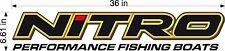 "36"" Nitro Boats Logo Decal, vinyl vehicle trailer sticker graphics"