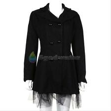 2016 New Women Double Breasted Trench Winter Coat Lady Peacoat Long Dress Jacket