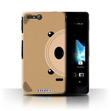 STUFF4 Case/Cover for Sony Xperia Go/ST27i/Animal Stitch Effect/Bear
