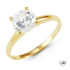14k Yellow Gold 0.33 CT DIAMOND Engagement RING Natural Round SOLITAIRE NEW