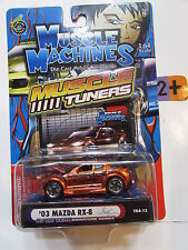 MUSCLE MACHINES MUSCLE TUNERS  '03 MAZDA RX-8  1:64 SCALE RJ DE VERA SERIES