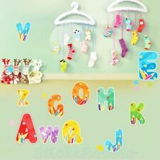 ALPHABET LETTERS SET STICKERS NEW ROOM WALL ART STICKERS HOME DECAL DIY DECOR