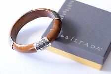 Silpada Engraved .925 Sterling Silver Wood Bangle B1490 Bracelet Retired RARE