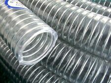 "40Meters 1 1/2"" Clear PVC Steel Braided Hose Oil Water Gas Reinforced Hose Tube"
