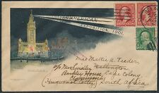 1901 PAN-AM EXPO MULTICOLORED ADVERTISING COVER GOING TO SOUTH AFRICA BS7798