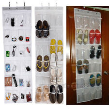 24 Pockets Clear Over Door Hanging Bag Shoe Rack Storage Space Saver Organizer