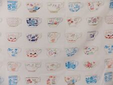 Designers Guild The De Chine Fabric Remnant Off Cut Shabby Chic Teacups 75 cm