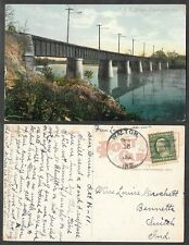 1911 Indiana Postcard - Logansport - I.U.C. Railroad Bridge