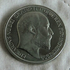 AUSTRALIA 1905 EDWARD VII NICKEL SILVER PROOF PATTERN CROWN