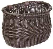 FRONT BICYCLE BIKE BASKET LARGE WILLOW WICKER BASKET BROWN BEC90138