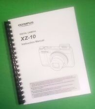 COLOR PRINTED Olympus Camera XZ-10 Manual User Guide 89 Pages.