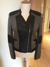 Gerry Weber Biker Jacket Size 16 Khaki Black RRP £170 Now £68