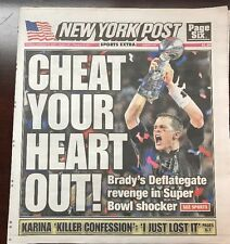NY Post Monday Feb 6,2017 Cheat Your Heart Out Patriots Super Bowl Champs